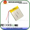 Hot selling lipo battery 603443 800mah 3.7v lithium rechargeable battery