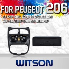 WITSON FOR PEUGEOT 206 2010 CAR DVD GPS NAVIGATION WITH 1.6GHZ FREQUENCY A8 DUAL CORE CHIPSET STEERING WHEEL
