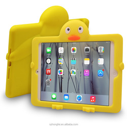 kids shcckproof 3D silicone case for ipad mini,children tablet case for ipad mini4, shockproof cover case for ipad 2,3,4
