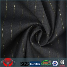 Shaoxing polyester rayon shiny fabric pinstripe wedding uniform suit fabric