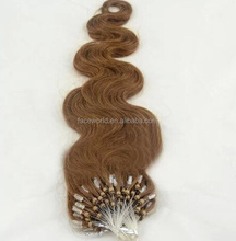 Alibaba China factory human hair extension tangle&shedding free micro bead human hair extensions