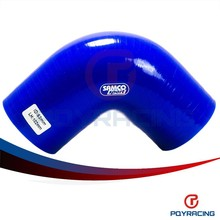 """PQY STORE-BLUE2.5"""" 63mm 90 Degree Elbow Silicone Hose Pipe Turbo Intake PQY-SH9025"""