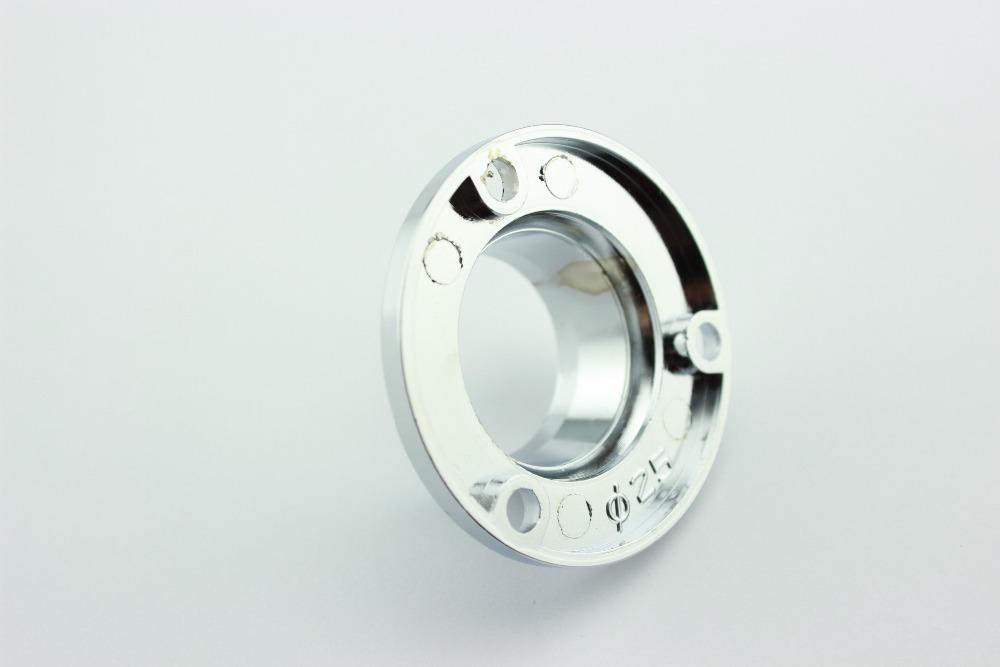 19mm/22mm/25mm diameter Chrome Wardrobe Rail Fitting Aluminium Stainless Steel Flange