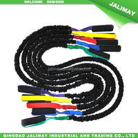 Cord Covered Resistance Training Bands With Padded Handles