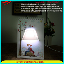 Page book light Innovative stylish calendar lamp gifts for newly married couple