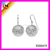 2015 CHINA MOST POPULAR DESIGN SILVER BALL EARRING
