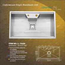 cupc Wholesale american standard brushed surface sinks restaurant undermount kitchen sinks L-75450