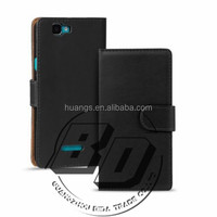 Extrem Hot selling Plain PU Leather Flip Wallet case For All Wiko Modles mobile phone case cover