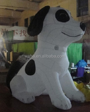 Cute outdoor advertising inflatable animal/cartoon/model/character/replica/inflatable dog with white color -10ft W475