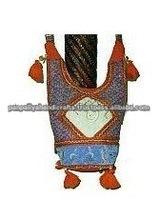 Magic Cross Road* Boho Hippi Shoulder Bag Completely Handmade Hand Embroideries ladies fashion with Mirror Work cotton handbags