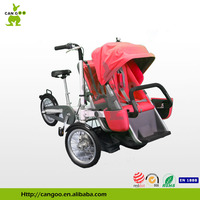Professional Aluminum Baby Double Stroller Carriage Bike Trailer For Sale