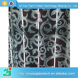 new products etched beveled glass mirrored photo frame silkscreen picture frame