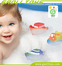 New arrive thermometry bath boat toy waterproof bath ship for promotion