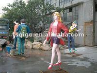 resin statues 3d art sculptures modern garden sculpture