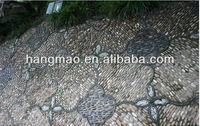 polished pebble stone walkways