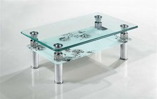 fashion design metal glass coffee table
