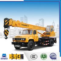 low fuel consumption 12 ton small hoist crane, truck loader crane, outriggers crane