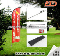 Outdoor advertising wind flag,wind blade flag,wind feather flag
