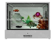 RichTech small and portable LCD acrylic jewelry display with CE certificate