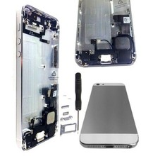 For iPhone 5 Back Battery Housing Cover Assembly with full small parts black white color free shipping