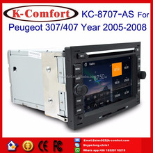 K-Comfort Factory supply 2 din car dvd peugeot 407 for peugeot 307 with GPS + SWC + Radio + RDS BT+ SD + USB CD/DVD IPOD Aux-in