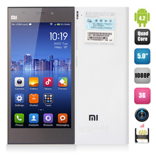5'' Xiaomi MI3 M3 Phone Quad Core Qualcomm Snapdragon800 2.3GHz FHD Screen 2G 16G Camera 2.0MP+13.0MP 3050mAh