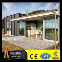 20ft/40ft modern cheap modular homes/prefabricated glass house