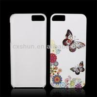 White Beatify Butterfly Hard Plastic Case Back Cover for Apple iPhone 5S/5C