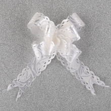Metallic Poly Curling Drawstring Ribbon Butterfly Pull Bow for Gift Wrapping Decorations