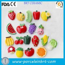 Cheap promotional ceramic fruit shape Fridge Magnet