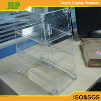 2015 JLP clear plastic bread box with drawer,acrylic modern box