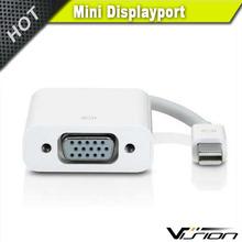 23cm white color mini displayport male to VGA female adapter