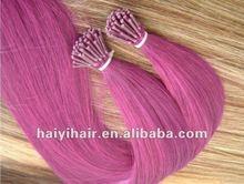 keratin prebonded red stick hair
