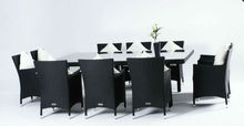 dinning table set Outdoor wicker dining table and chair Rattan garden dining set