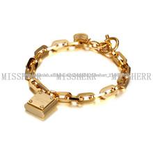 Pulseras de oro personalizadas con alta calidad elástica MKB009STGC