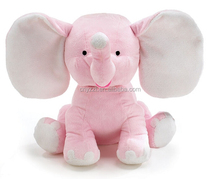 pink elephant toy/Cute baby toys stuffed pink plush elephant toy with big ear
