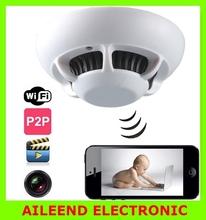 P2P Smoke Detector WiFi Spy Camera Wireless IP Camera DVR Digital Video Recorder Cam