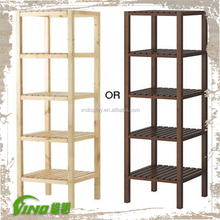 Wood Floor Stand Folding Storage Shelves Display