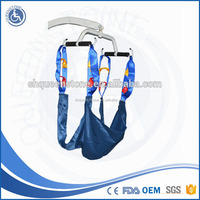 Hospital and home care patient lifter with sling for injured and elderly lying-down