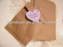 "Kraft Paper Merchandise Bags,Gift Bag Treat bag Party Supplies Paper Bag Favor Bag,5""W x 8""H natural brown gift bag art.40120"