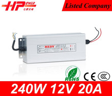 12v power supplies,alibaba china switch gear single output type Rainproof Case 240w 12v led power drivers