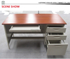 high quality wooden top metal frame work table