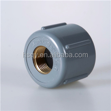 PVC Pipe Fitting Threaded Female Socket/Cap with Copper