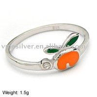 925 Silver Ring without MOQ - Tomato (JZ-210)