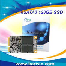 Karisin Brand MLC msata 128gb ssd solution chemical with 128MB cache