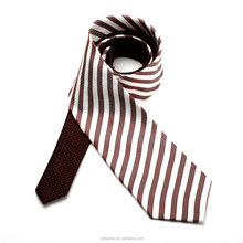 Charming knitting brown and gray silk neckties