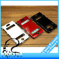 For iphone 5 new products for 2013 removable cool X stand aluminum metal cell phone case