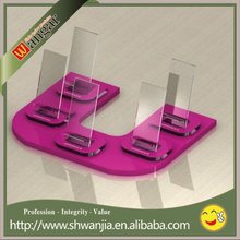 High quality counter clear acrylic mobile phone display stand, plexiglass display holder for cell phone