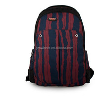 Social Professional Manufacture Waterproof Travel Backpack red Watermelon stripes design bag