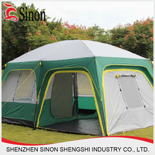 shenzhen wholasle 4-5 family 2room large luxury camping tent